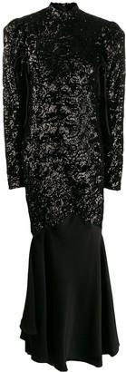 Almaz sequin contrast dress
