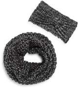 Saks Fifth Avenue Glitter Woven Scarf & Headband Set