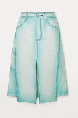 Lanvin Asymmetric Leather Skirt - Blue