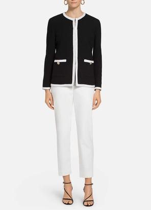St. John Luxury Boucle Contrast Trim Jacket