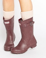 Hunter Short Wave Texture Wellington Boot