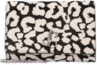 Jimmy Choo Varenne Printed Calf Hair Clutch