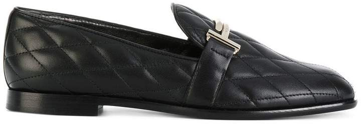 Tod's quilted Double T loafers