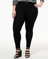 Hue Women's Plus Size High-Waist Ponte Leggings