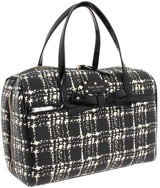 Kate Spade Belleville Plaid Melinda (Black/Cream) - Bags and Luggage