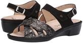 Finn Comfort Buka (Black/Gold) Women's Sandals