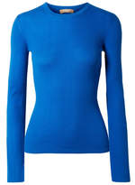 Michael Kors Ribbed Cashmere Sweater - Bright blue
