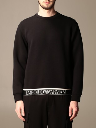 Emporio Armani Crewneck Sweatshirt With Logoed Band