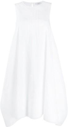 Peserico Stripe Front Cotton Blend Shift Dress