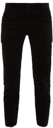 SASQUATCHfabrix. Cotton-blend Corduroy Cropped Trousers - Mens - Black