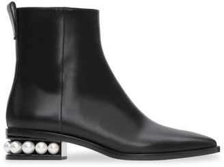Nicholas Kirkwood Casati Faux Pearl Leather Ankle Boots