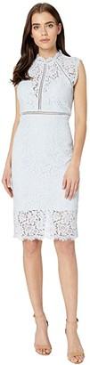 Bardot Lace Panel Dress (Blue Mist) Women's Dress