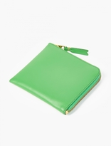 Comme des Garcons Green Leather Coin Wallet