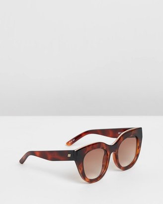 Le Specs Women's Brown Cat Eye - Air Heart Brown Tort Round Sunglasses - Size One Size at The Iconic
