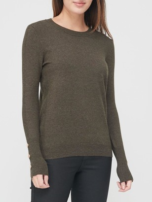 Very Value Crew Neck Knitted Jumper - Khaki