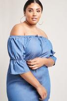 Forever 21 FOREVER 21+ Plus Size Mineral Denim Dress