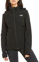 The North Face Shelbe Mock Neck Zip Front Solid Raschel Hooded Jacket