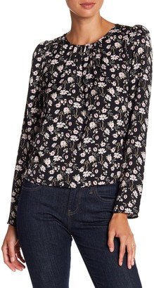Melrose and Market Long Sleeve Print Blouse (Petite Available)