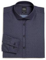Strellson Extra Slim-Fit Pindot Cotton Dress Shirt