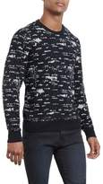 Kenneth Cole New York Reaction Kenneth Cole City Lights Knit Sweater - Black