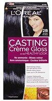 L'Oreal Healthy Look Creme Gloss Hair Color, 2B Blue Black
