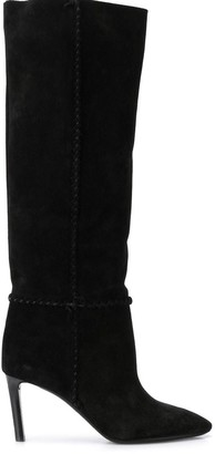 Saint Laurent Braided Trim Boots