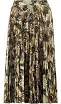 Haute Hippie Sunburst Metallic Pleated Fil Coupé Midi Skirt
