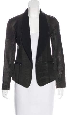 Alexander Wang Wool-Trimmed Leather Blazer