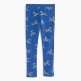 J.Crew Girls' everyday leggings in zebra print