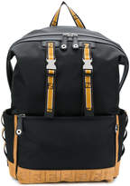 Fendi contrast buckle backpack