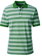 Classic Men's Short Sleeve Stripe Mesh Polo Shirt-Moonlight Blue Oxford