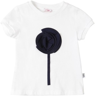 Il Gufo Flower Patch Cotton Jersey T-Shirt