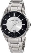 Pierre Petit Men's Serie Le Mans silver stainless-steel band watch.