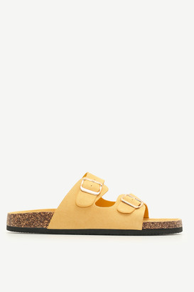 Ardene Faux Suede Cork Buckle Slides