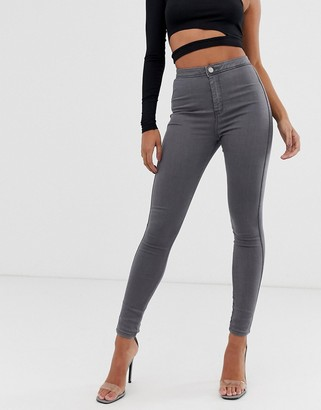 ASOS DESIGN rivington high waisted jeggings in smokey grey wash