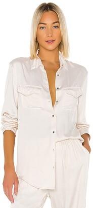 Indah Emma Solid Long Sleeve Button Up Shirt