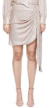 Jonathan Simkhai Sequin Drape Front Mini Skirt