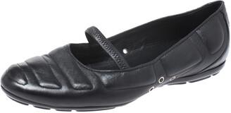 Louis Vuitton Black Leather Marry Jane Ballet Flats Size 38