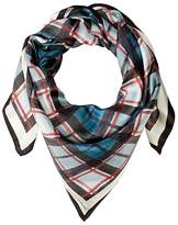 Rebecca Minkoff Plaid Square (Winter Sky) Scarves
