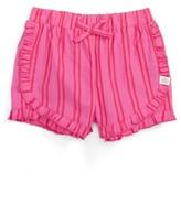 Infant Girl's Rosie Pope Stripe Ruffle Shorts