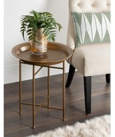 Pasquale Hammered Metal End Table Bloomsbury Market Color: Gold