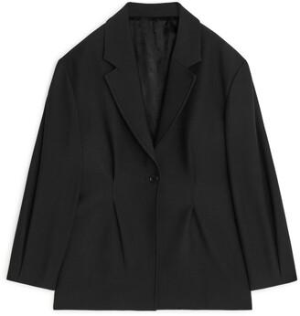Arket Cinched-Waist Wool Blend Blazer