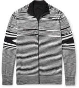 Missoni Slim-fit Reversible Cotton, Cashmere And Silk-blend Zip-up Cardigan - Black