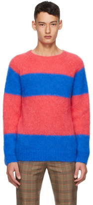 Molly Goddard Pink and Blue Striped Noah Sweater