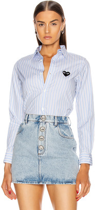 Comme des Garcons Striped Shirt in Blue | FWRD