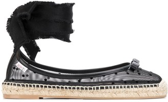 RED Valentino RED(V) ankle-tie sheer espadrilles