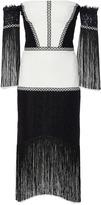 Alexis Antoinette Off Shoulder Fringe Dress
