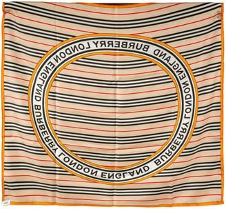 Burberry Logo Stripe Scarf