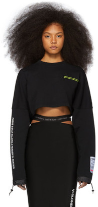 Marcelo Burlon County of Milan Black Cropped Sweatshirt