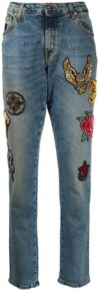 John Richmond High Rise Slim Fit Jeans
